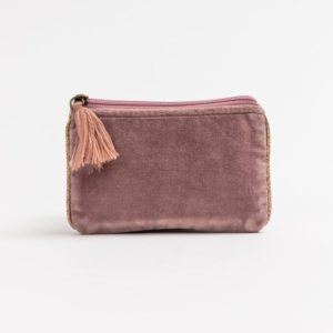 Stella and Gemma Small Velvet Pouch in Rose