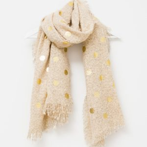 Stella and Gemma Tan with Gold Spots Scarf