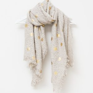 Stella and Gemma Grey with Gold Spots Scarf