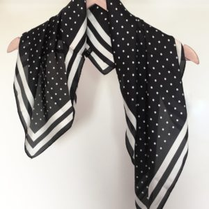 Stella and Gemma Black Spot French Square Scarf