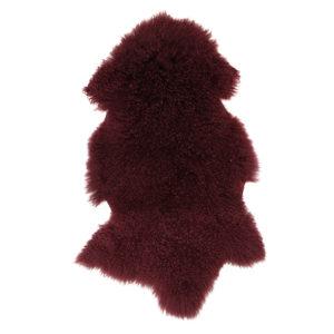 Berry Mongolian Fur Shrug
