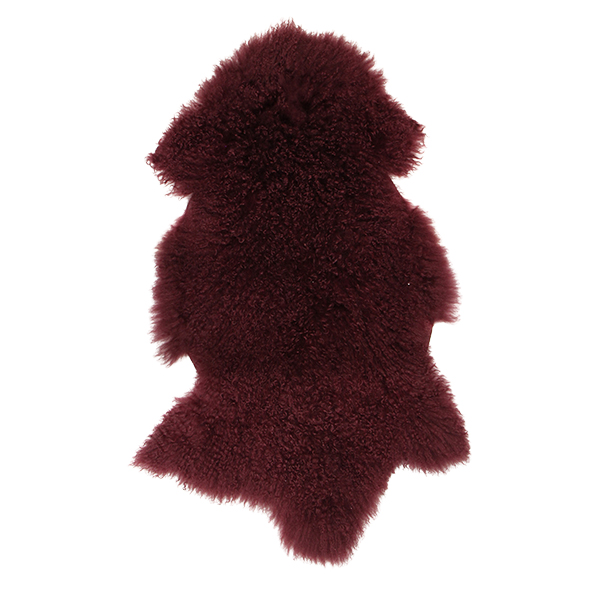 Berry Mongolian Fur Shrug