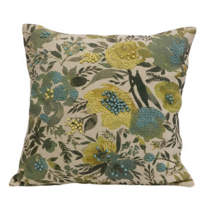 Fleur Blue Flower Cushion