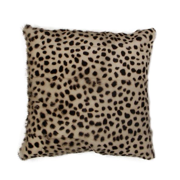 Leopard Goat Fur Cushion