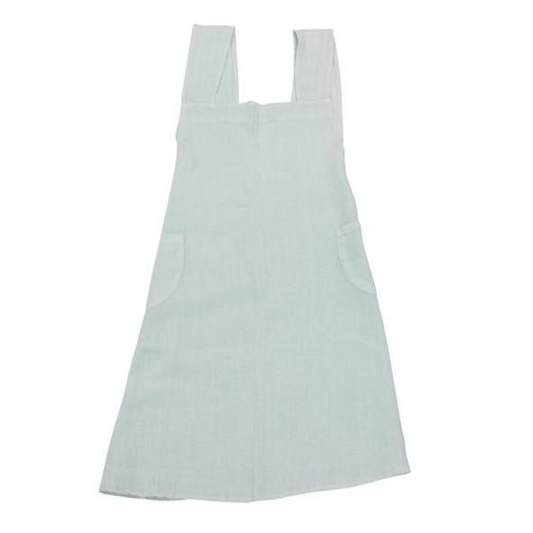 Linen Cross Back Apron - Pale Blue