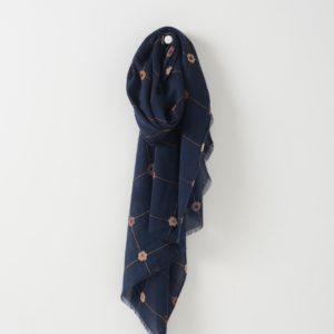Citta Joni Wool Scarf in Midnight