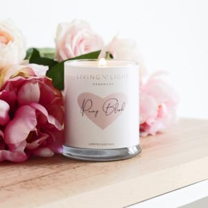 Living Light Peony Blush Soy Metro Jar Candle