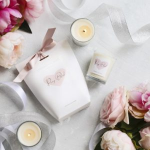 Living Light Peony Blush Soy Votive in Gift Bag