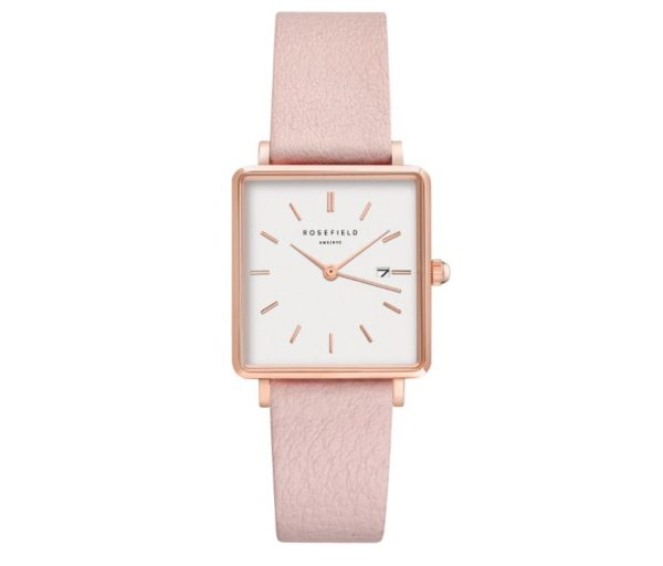 Rosefield - The Boxy - Rose Gold/Pink Leather
